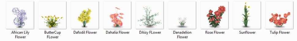 مبلمان گیاهی فتوشاپ (flower)